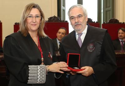 Juan Pujol y Sonia Gumpert en el Tribunal Supremo