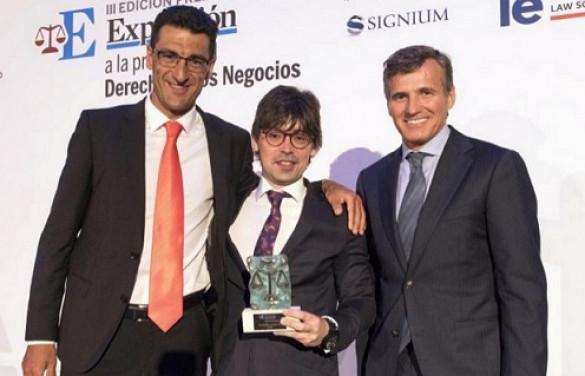 José Ángel Sandín, CEO Lefebvre · El Derecho, entrega el premio Proyecto más Innovador en los Expansión Jurídico 2018