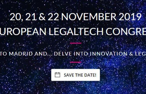 José Angel Sandín y Juan Pujol representan a Lefebvre Sarrut en el Congreso Europeo Legal Tech organizado por ELTA